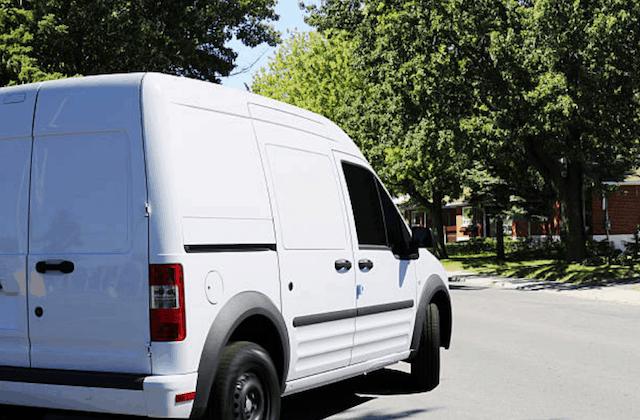 white repair van in cicero